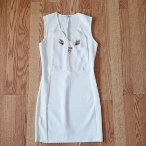 ❤ Zara bodycon dress with jewels
